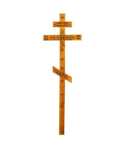 Фото 1 - Крест деревянный КДС-05 (сосна с декором светлый).