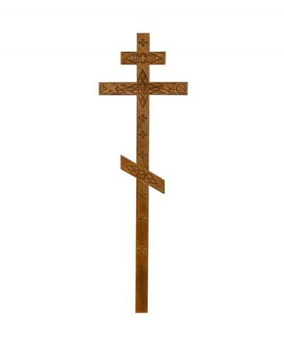 Фото 1 - Крест деревянный КДС-06 (сосна с декором старый).