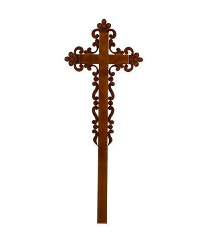 Фото 1 - Крест деревянный КДС-14 (ажурный католический сосна).
