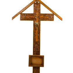 Фото 6 - Крест деревянный КДЭ-02К.