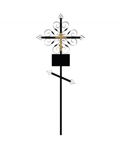 Фото 1 - Крест металлический (завитушка).