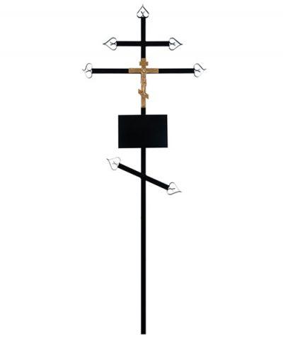 Фото 1 - Крест металлический (православный).