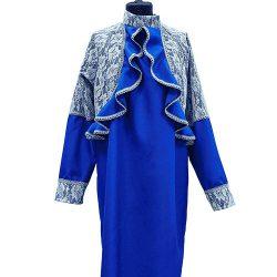Фото 2 - Женская одежда для похорон Синий и белый Комплект.