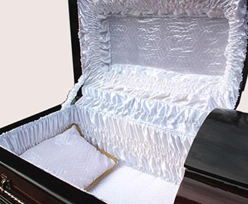 Постель в гроб комплект атлас-стежка 2хкрышечник КМПС-03-2