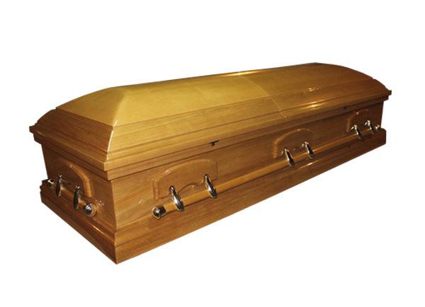 Элитный гроб VICTORIA (светлый орех)