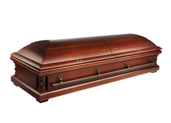 Элитный гроб А12 (Ольха, матовый)