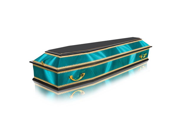 Комбинированный гроб ФК-6 (изумруд)