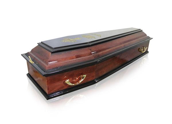 Гроб лакированный ФСР-6-Печаль