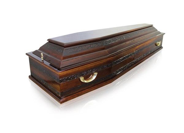Гроб лакированный ФУ-2 Узорный №3
