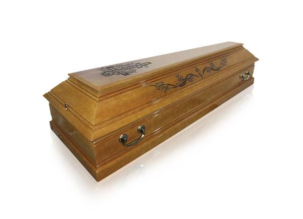 Гроб лакированный ФПРГ-4С Лоза