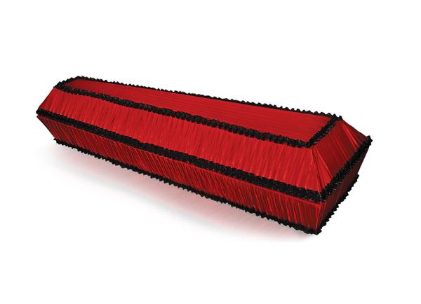 Гроб обитый тканью Гофре