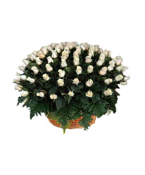 Корзина из живых цветов ЖК-06