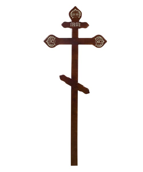Крест деревянный КДС-15 (фигурный сосна темный)