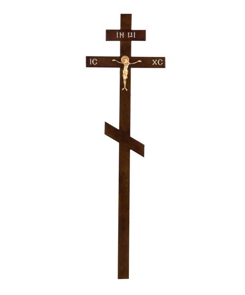 Крест деревянный КДС-01 (сосна темный распятие)