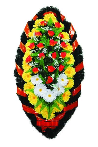 Элитный венок из искусственных цветов заказной №7