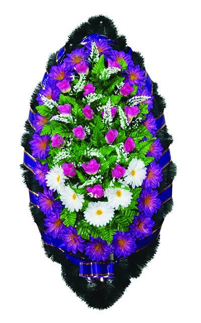 Элитный венок из искусственных цветов заказной №6