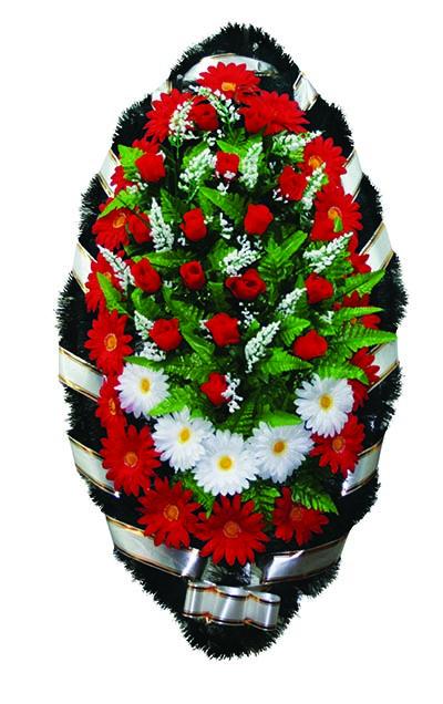 Элитный венок из искусственных цветов заказной №6 №2