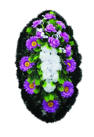 Венок из искусственных цветов №4