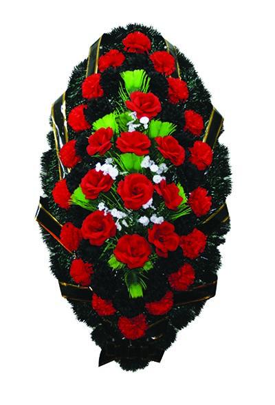 Венок из искусственных цветов №12
