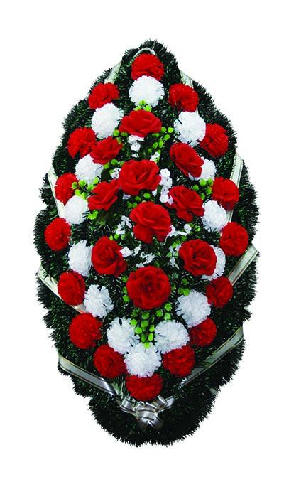 Венок из искусственных цветов №16