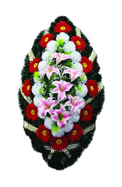 Венок из искусственных цветов №18