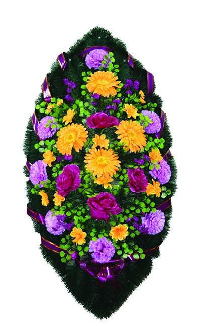 Венок из искусственных цветов №17